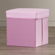 Durable Construction, Reinforced Seams, and Patterned Lid, Melanie Padded Storage Cube