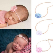 Alonea Baby Girls Fashion Pearl Headband Accessories Hairband Baby Knitting Flower Hairband