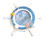 Josies Nautical Handcrafted Ship Helm Round Picture Frame 4x4
