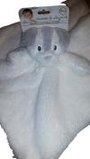 Blankets & Beyond Dog / Badger White with Grey Stripe White Blanket Nunu
