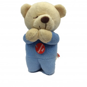 Teagan Prayer Teddy Bear Blue Musical - Spanish - Angel De Laguardia