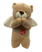 Linzy Brown Prayer Bear Soft Plush - Spanish - Recites Padre Nuestro Prayer