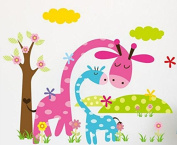 Decorative Forest Nursery Wall Decals - Removable Wild Animals Nursery Decor Stickers - Best For Kids Bedroom Walls - Great Gift For Baby Room