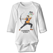 Nngogoing 2016 RIO OLYMPIC Archery Long Sleeve Romper Climbing Clothes For Baby's