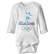 Nngogoing Baby's Rio Olympic Games Long Sleeve Romper Climbing Clothes