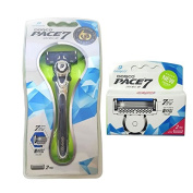 Dorco Pace 7 Blade System 1 Razor(with 1 Cartridge)+ 2 Refill Cartridges Shaving