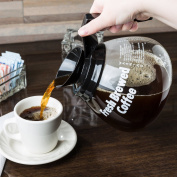 Grindmaster 98005 1890ml Glass Coffee Decanter with Black Handle - 3/Pack
