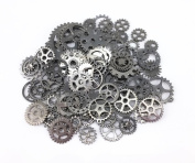 Yueton 100 Gramme Antique Steampunk Gears Charms Clock Watch Wheel Gear for Crafting