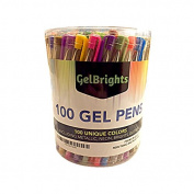 GelBrights 100 Gel Pens - Great For Adult Kids Colouring Book - Scrapbook