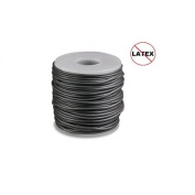 Round Rubber Cord Pewter 3mm 5 metres / 5.4 Yards.