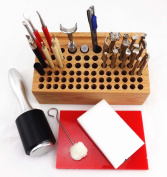 WellieSTR 30 PCS LEATHER CRAFT STAMPING TOOL SET KIT FOR LEATHER PRACTICAL DIY