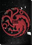 Game Of Thrones Targaryen Sigil Canvas Banner Stretched Canvas Print 33cm x 46cm