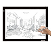 AGPtek 43cm (A4 Size) Tracing Light Box LED Artcraft Tracing Light Pad Light Box Stepless brightness control with memory function For Artists, Drawing, Sketching, Animation - White