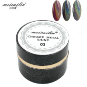 Laser Silver Holographic Chrome Mirror Effect Pigment Holo Rainbow Shining Nail Art Powder
