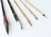 6 PCS Professional Blue Squirrel Hairs Watercolour Paint Brushes Chinese Japanese Calligraphy Sumi Brushes