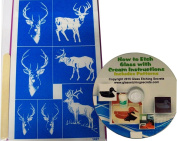 Deer-Buck Animal Glass Etching Stencils, Self-Stick + How to Etch CD with Patterns
