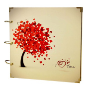 Scrapbook Love Tree DIY Photo Albums Valentines Gifts 28cm X 28cm