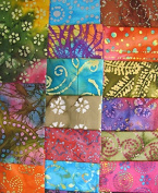 17 Fat Quarters Quilter's Batik #1 from Marshall Dry Goods 100% Cotton Quilt Fabric