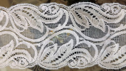 20 Yards Embroidered White Victorian Gothic Venice Galloon Lace 7.6cm Wide