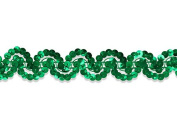 Decorative Trimmings Sequin Trim New Orleans ,Kelly Green, 6 YD