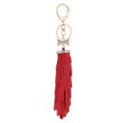 CN Multi Colour Leather Tassel Keychain Bag Handbag Key Ring Purse Bag Charm Car Key Chain Pendant Bag Key Ring Holder