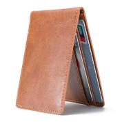 Ultra Slim Mini Bifold Wallet ID Window Card Case with RFID Blocking