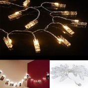 Accmor 5m LED Photo Clip String Lights - USB Lights with 20 Photo Clip for Indoor or outdoor Decorate - Perfect Father's Day Ornament for Hanging Pictures, Notes, Artwork