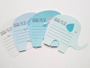 Elephant Advice Cards for Baby Boy Shower