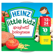 Heinz Little Kidz Spaghetti Bolognese 12mth+ (230g) - Pack of 2
