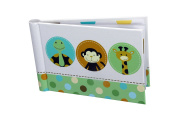 "Baby Photo Album 4 x 6 Brag Book ""Jungle Tales"" - Boy / Girl Baby Shower Gifts, - Holds 24 Precious Photos, Acid-free Pages"