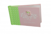 "Baby Photo Album 4 x 6 Brag Book ""Sweet Tweet Girl"" - Baby Shower Gifts, - Holds 24 Precious Photos, Acid-free Pages"