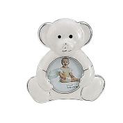 SILVER AND ENAMEL TEDDY BEAR FRAME - Picture Frame