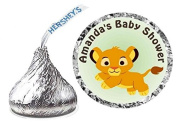 216 LION KING BABY SIMBA BABY SHOWER favours HERSHEY KISS KISSES LABELS