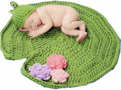 Little Kiddo Infant Baby Crochet Knit Costume Photography Props Outfits Cute Lotus Leaf Frog