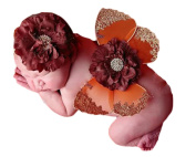 Little Kiddo Newborn Baby Flowers Butterfly Wings Photography Props Costume with Headband Headdress