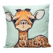 Hatop Giraffe Square Pillow Throw Cushion Cover Case Home DecoratiSve Cushion