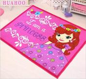 Cartoon Princess Girls Bedroom Rugs Pink Rug Girls Pink Kids Rug Princess Area Rugs for Girls Daughter Bedroom Playroom & Nursery Princess Room Decor For Girls