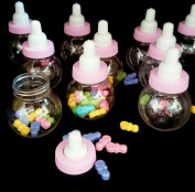36 Fillable Bottles For Baby Shower Favours Pink Party Decorations girl