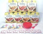 Gerber Graduates Lil Entrees Variety Meal Bundle of 7 flavours 200ml each, Bowl, Spoon included. Gift Package Care Package