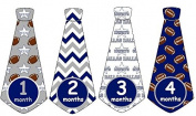 Monthly Baby Boy Football Tie Stickers Monthly Tie Stickers NFL Monthly Stickers Dallas Cowboys Monthly Tie Stickers Monthly Sports Stickers UNCUT