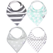 "Baby Bandana Drool Bibs for Drooling and Teething 4 Pack Gift Set For Boys and Girls ""Tribe Set"" by Copper Pearl"
