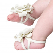 Inkach®Baby Girl Flower Design Barefoot Sandals Toddler Foot Flower Beach Sandals