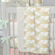 Carousel Designs Peaches and Cream Crib Blanket