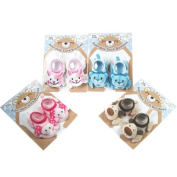 Infant bootee socks with animal face
