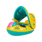 Rayinblue 6-18 M Baby Inflatable Swim Float Ring Boat With Adjustable Sunshade