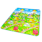 Baby Puzzle Play Floor Mat Cushion Farm Rug Crawling Carpet Amusement Park