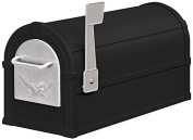 Eagle Rural Mailbox in Black and Silver Eagle