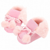 GenialES Baby Boys Girls Toddle Shoes Winter Warm Cute Soft Sole Sneaker Booties 3-6M Pink