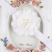 Xjoel Baby Toddler Headband Sequin Rose Flower with Pearl Hair Band Headwear