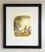 Beatrix Potter FRAMED PRINT, New Baby/Birth, Christening, Nursery Picture Gift, Peter Rabbit and Friends